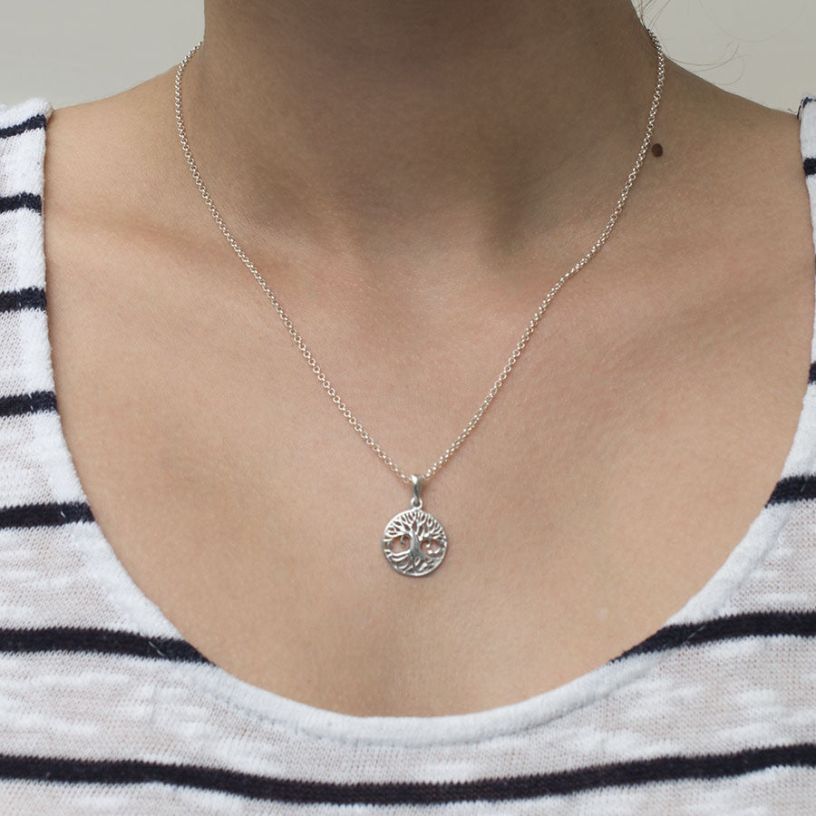 Sterling Silver Equality Tree Necklace