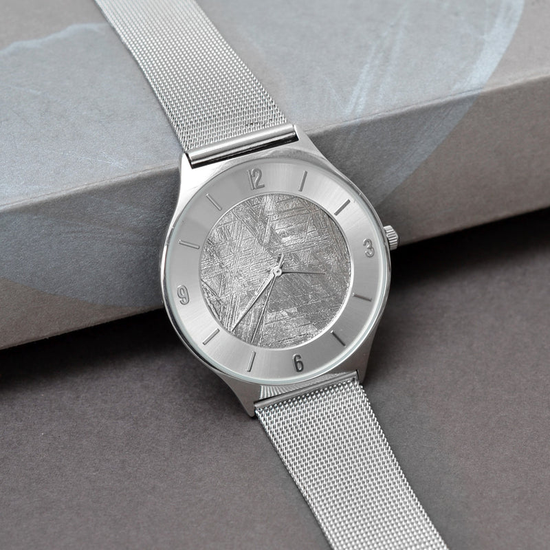 Stainless Steel and Muonionalusta Meteorite Watch