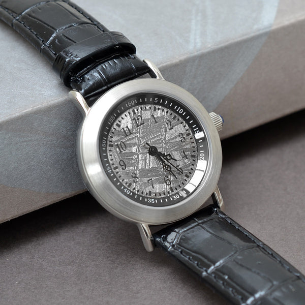 Brush Finish Muonionalusta Meteorite Watch
