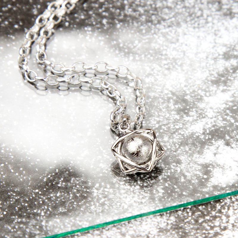 Meteorite Orb and Star Necklace