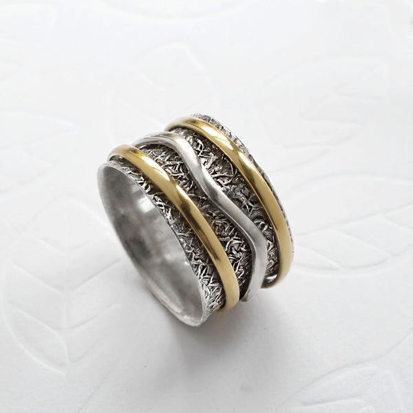 Mixed Metal Spinning Organic Ring