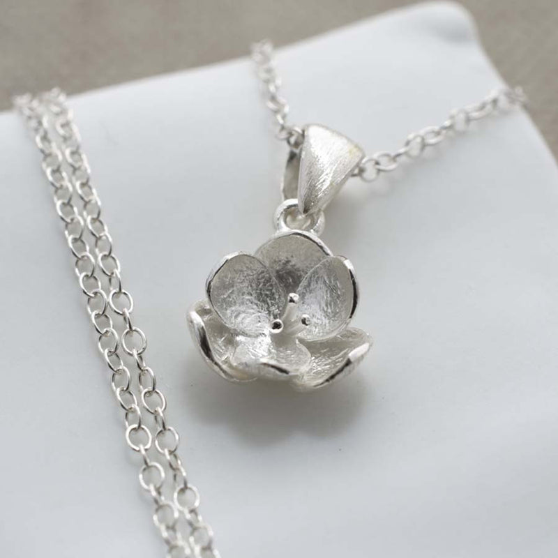 Silver Blossom Jewellery Set