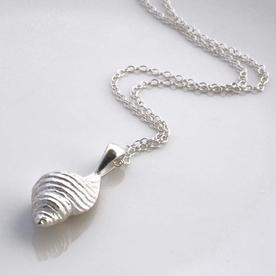 Sterling Silver Spiral Shell Necklace by Martha Jackson