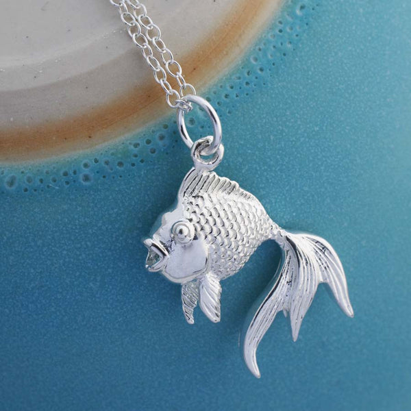 Sterling Silver Fish Necklace by Martha Jackson