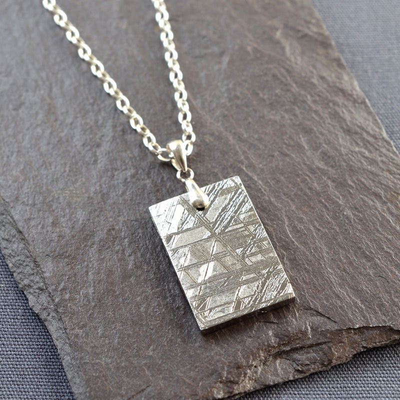 Meteorite Necklace (Large) Dog tag style