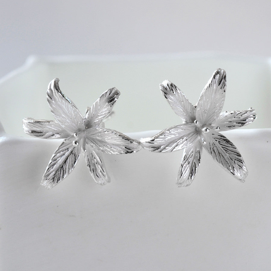Silver Lily Flower Star Jewellery Set