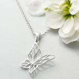 Silver Butterfly Necklace by Martha Jackson