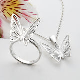 Sterling Silver Butterfly Jewellery Set