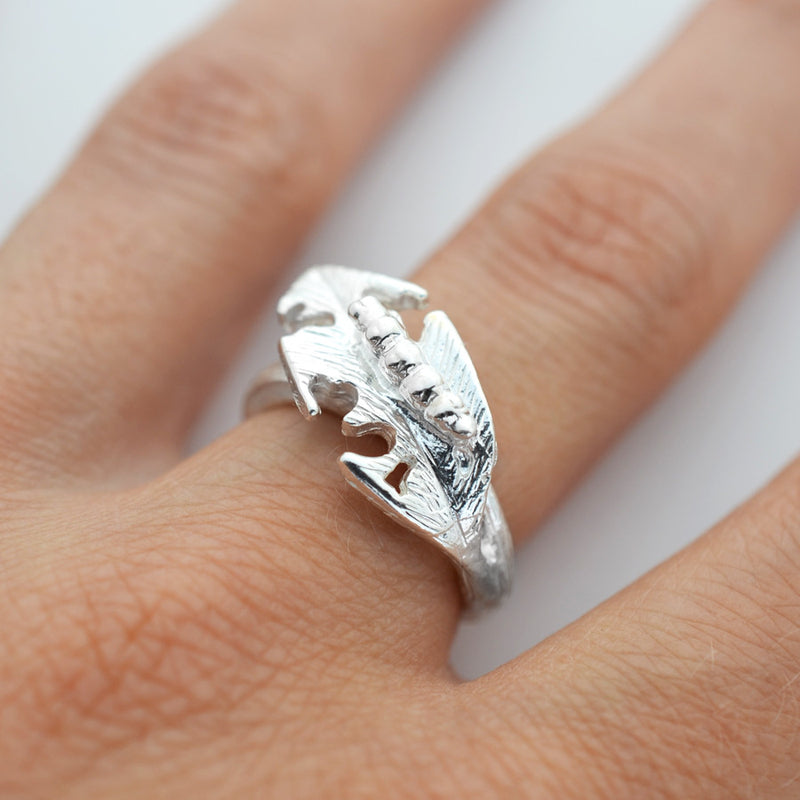 Silver Hungry Caterpillar Ring by Martha Jackson