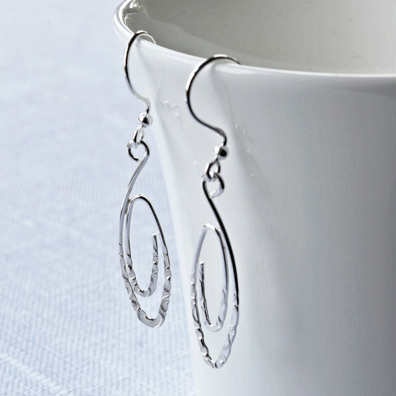 Silver Urban Spiral Earrings