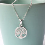 Small Silver Tree Of Life Necklace