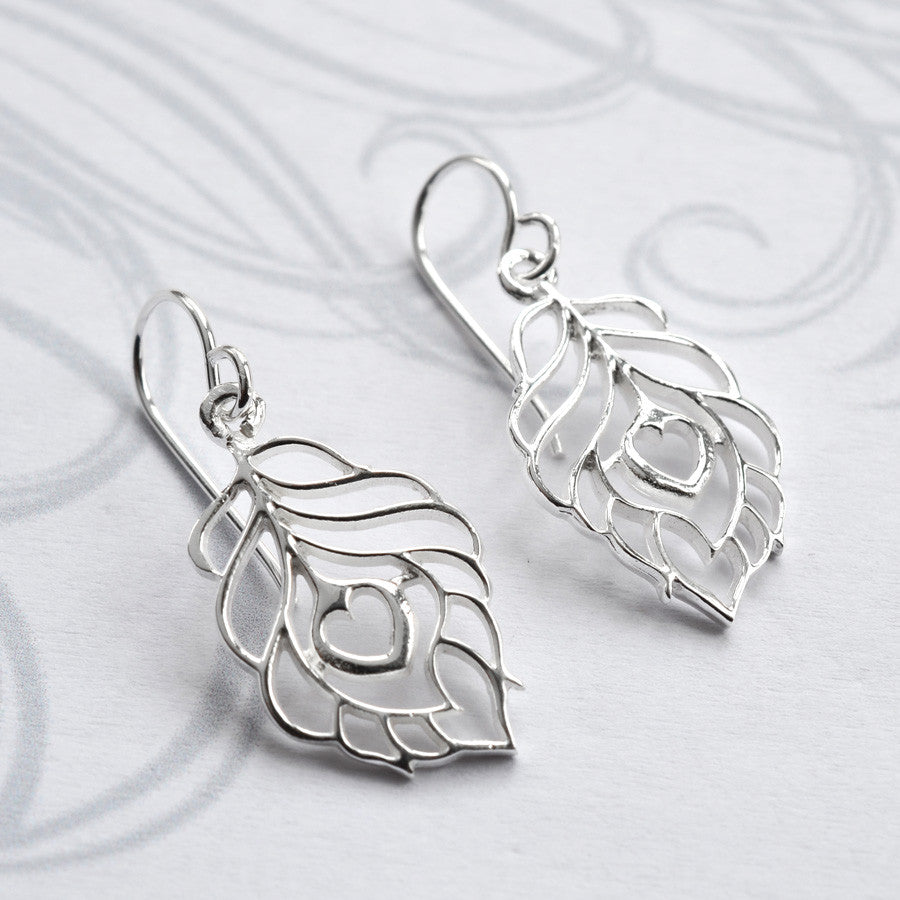 Silver Peacock Love Jewellery by Martha Jackson