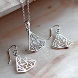 Silver Art Deco Triangle Jewellery by Martha Jackson