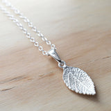 Silver Mint Leaf Necklace