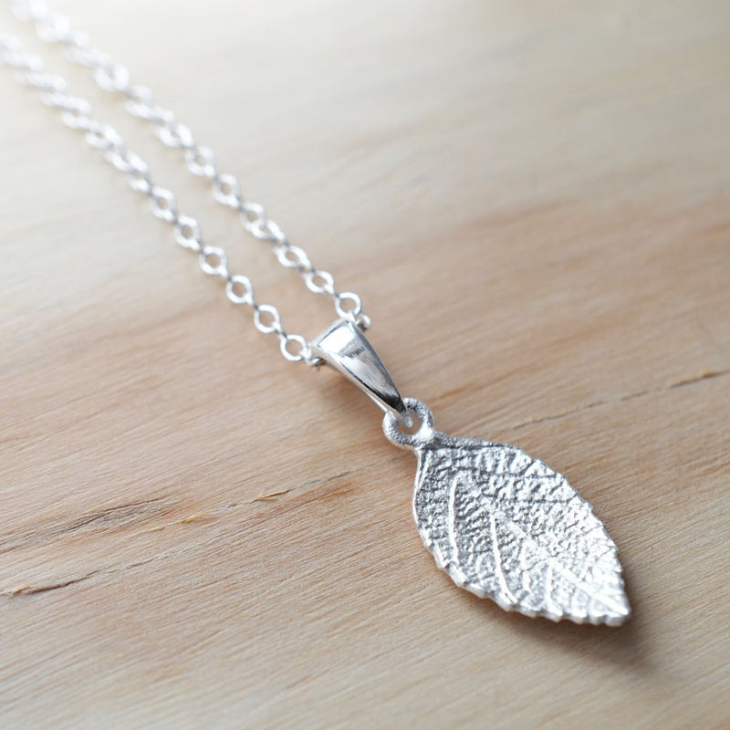 Silver Mint Leaf Jewellery Set