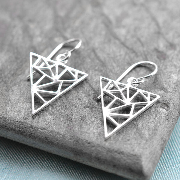 Silver Geometric Triangle Jewellery by Martha Jackson