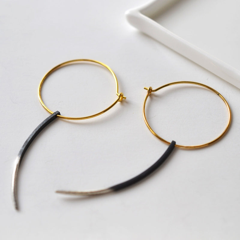 Mixed Metal Dream Hoop Earrings