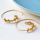 Statement Gold Spiral Hoop Earrings