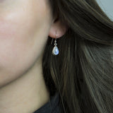 Sterling Silver Moonstone Teardrop Earrings