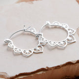 Sterling Silver Marrakesh Hoops