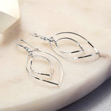 Sterling Silver Wire Ellipse Earrings