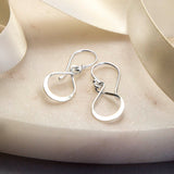 Sterling Silver Wire Loop Earrings