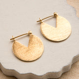 Gold Plated Sterling Silver Stolen Slice Earrings