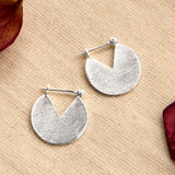 Sterling Silver Stolen Slice Earrings
