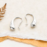Sterling Silver Small Liquid Drop Earrings