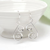 Sterling Silver Spiral Tears Earrings
