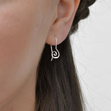 Sterling Silver Simple Spiral Earrings