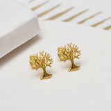 Sterling Silver Tree Stud Earrings