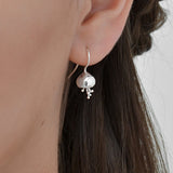 Sterling Silver Fuchsia Earrings