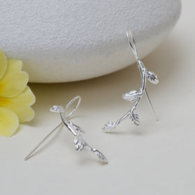 Sterling Silver Vines Earrings