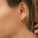 Rose Gold Plated Sterling Silver Abstract Bubble Hoops