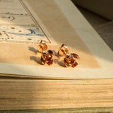 Rose Gold Plate Sterling Silver Tulip Stud Earrings
