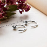 Sterling Silver Six Side Hoop Studs