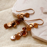 Rose Gold Plated Sequin Earrings