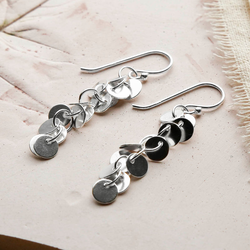Sterling Silver Sequin Earrings