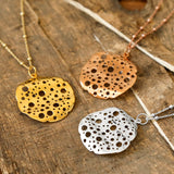 Gold Plated Moon Crater Necklace
