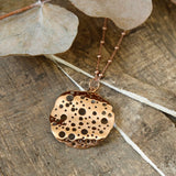 Rose Gold Plated Moon Crater Necklace