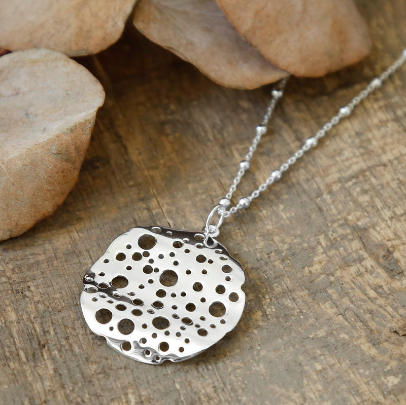 Sterling Silver Moon Crater Necklace