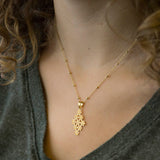 Gold Plated Moroccan Tile Necklace