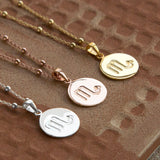 Gold Plated Scorpio Star Sign Necklace