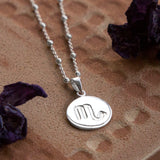Sterling Silver Scorpio Star Sign Necklace