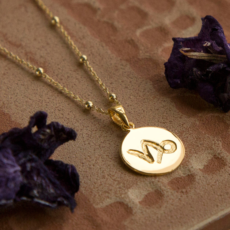 Gold Plated Capricorn Star Sign Necklace