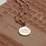 Rose Gold Plated Libra Star Sign Necklace