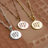 Gold Plated Virgo Star Sign Necklace