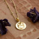 Gold Plated Taurus Star Sign Necklace