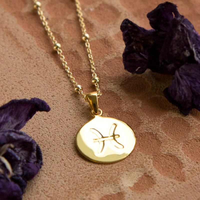 Gold Plated Pisces Star Sign Necklace